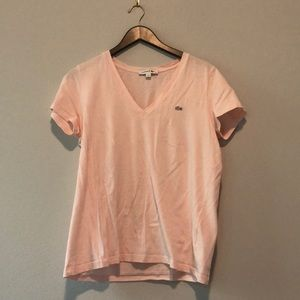 Lacoste pink tshirt